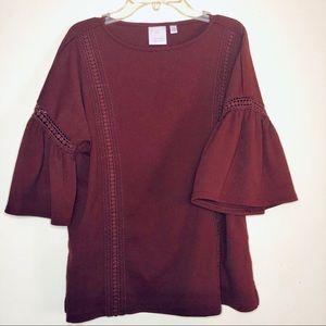 Lauren Conrad Cabernet Blouse Stitching Pattern